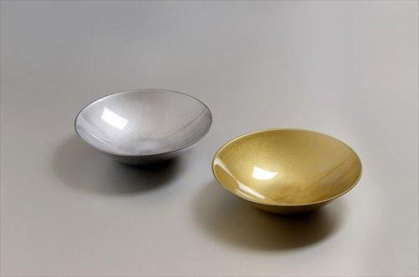画像1: 山中漆器/北市漆器店/kazeya-style/Gold&Silverペア5.0盛鉢/径14.5×4.7cm (1)