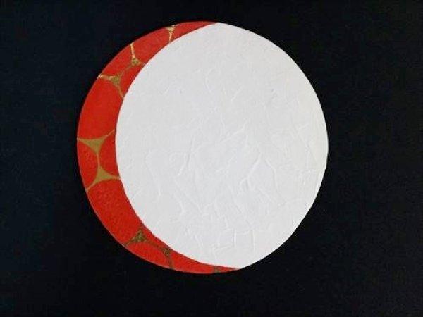 画像1: 清水焼(京焼)/小川宣之/LUCEAT/28cmプレート皿/白×赤 金水玉紋 (1)