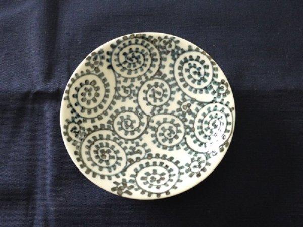 画像1: 有田焼/惣次郎窯/タコ唐草5寸皿/15.7×2.5 (1)