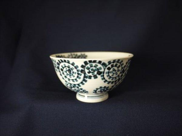 画像1: 有田焼/惣次郎窯/遊びタコ唐草夫婦茶碗(小)/11×6 (1)
