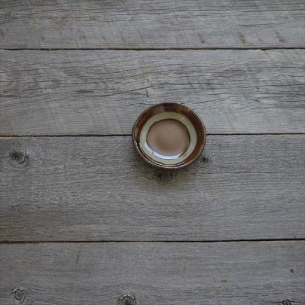 画像1: 益子焼/伝統工芸士/大塚雅淑/豆皿 茶/Φ10 (1)