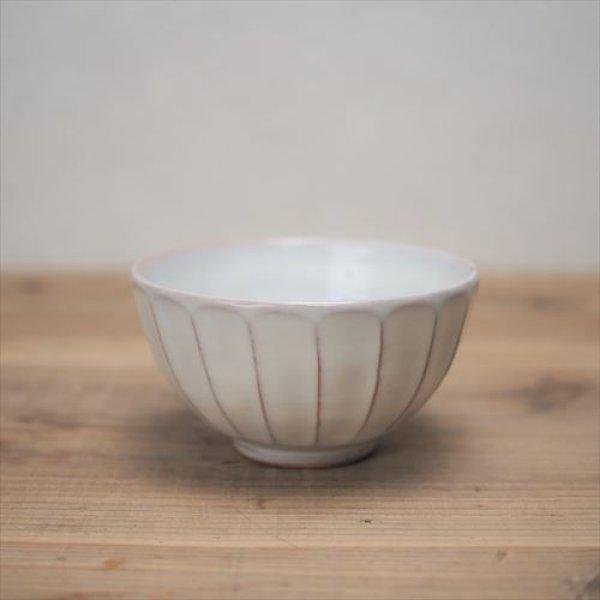 画像1: 萩焼/松光山栄光/白釉 面取飯碗/Φ11.7XH6.6 (1)