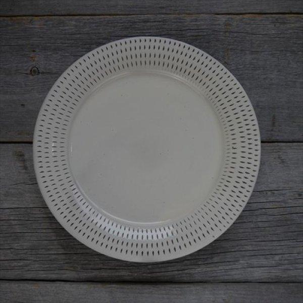 画像1: 小石原焼/カネハ窯/7.5寸洋平皿飛鉋縁リム飛び鉋/Φ22.5 (1)
