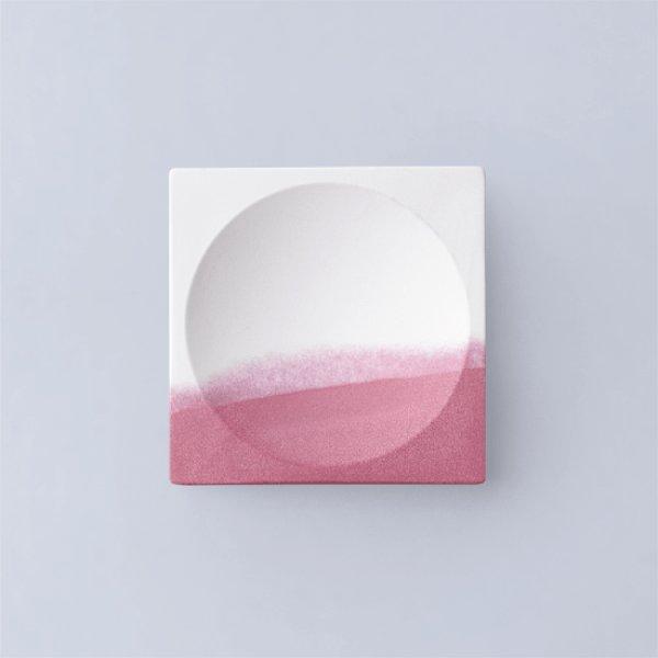 画像1: 有田焼/ヤマト陶磁器/瀬兵窯/KUSAKI/Mini tray/SUO(赤)/9×9×h1cm (1)