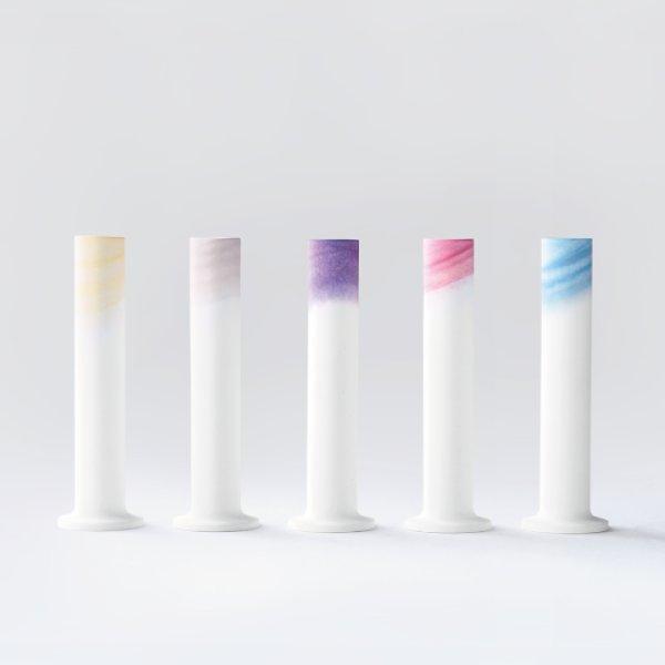 画像1: 有田焼/ヤマト陶磁器/瀬兵窯/KUSAKI/Flower Vase L/全5色/Φ6×25.5cm (1)