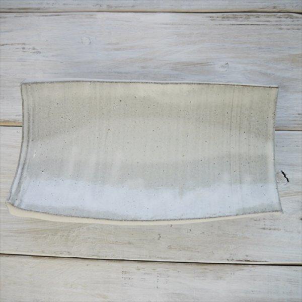 画像1: 益子焼/知床窯/筒割り皿/藁釉/Φ26X15.5 X 5.5 (1)
