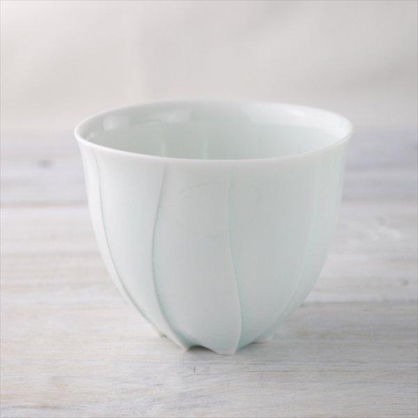画像1: 瀬戸焼/樽田裕史/ゆらぎカップ/白/Φ8.5 X  H7 (1)