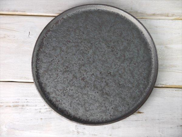 画像1: 陶房かんな/丸メインプレート(大)/黒/Φ25.5 X H1.5 (1)