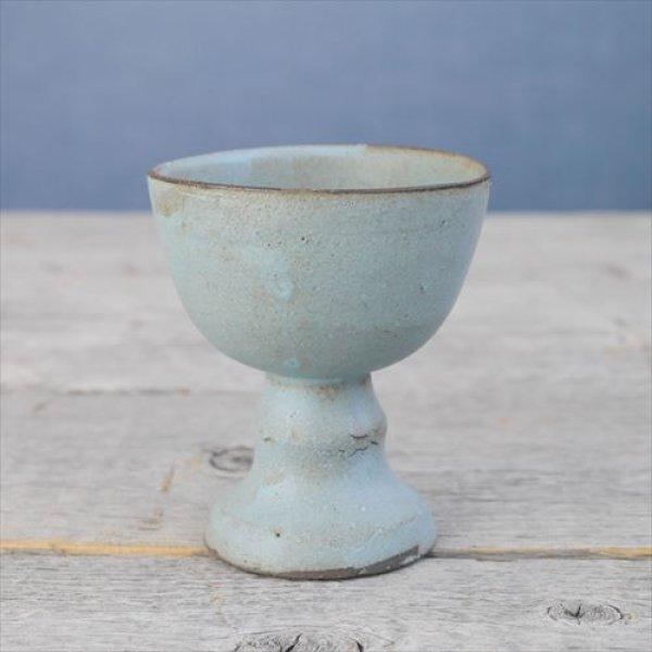 画像1: 常滑焼/わたなべ陶器/ぐい呑/グリーン/Φ7,5 X H8,5 (1)
