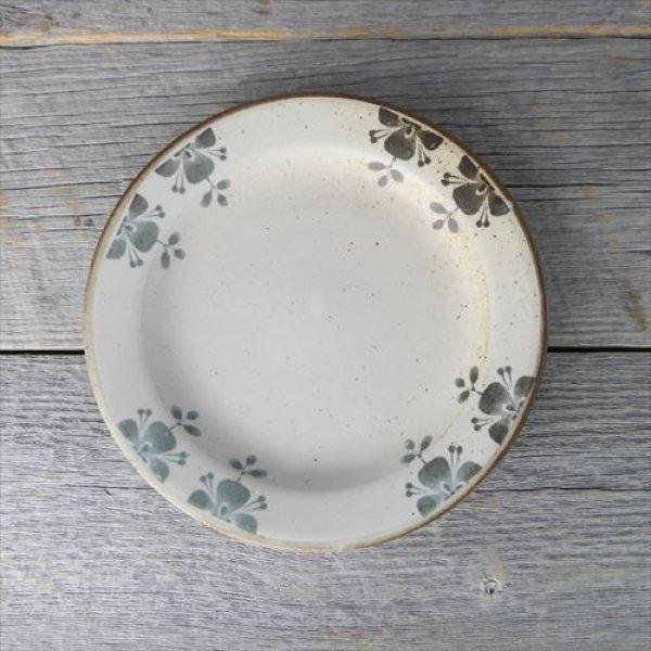 画像1: 美濃焼/伸光窯/ローズマリー/リム付き18cmプレート/ブラウン白マット/Φ18X3 (1)