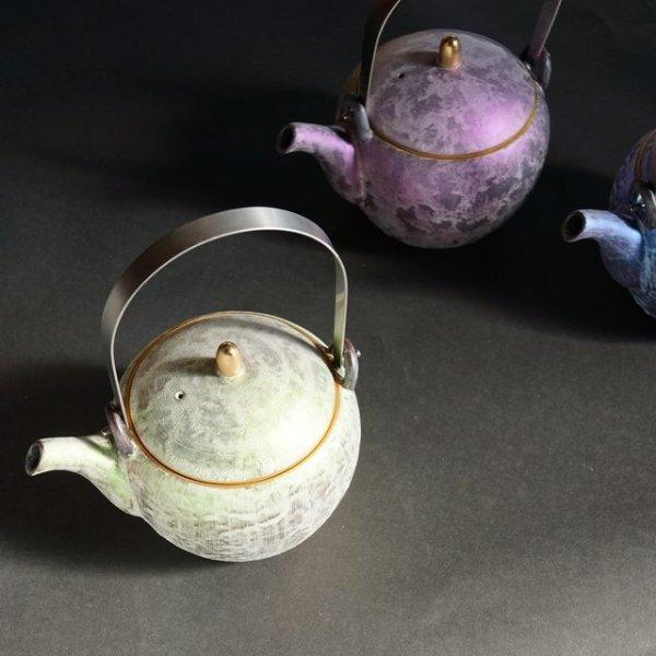 画像1: 有田焼/金照堂/麟 Lin 土瓶(3色)/ Φ10.0cm H11.0cm(容量)360ml (1)