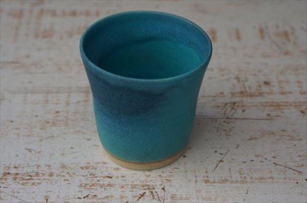 画像1: 笠間焼/あじさい工房/トルコ青フリーカップ/Φ8.5×H9 (1)