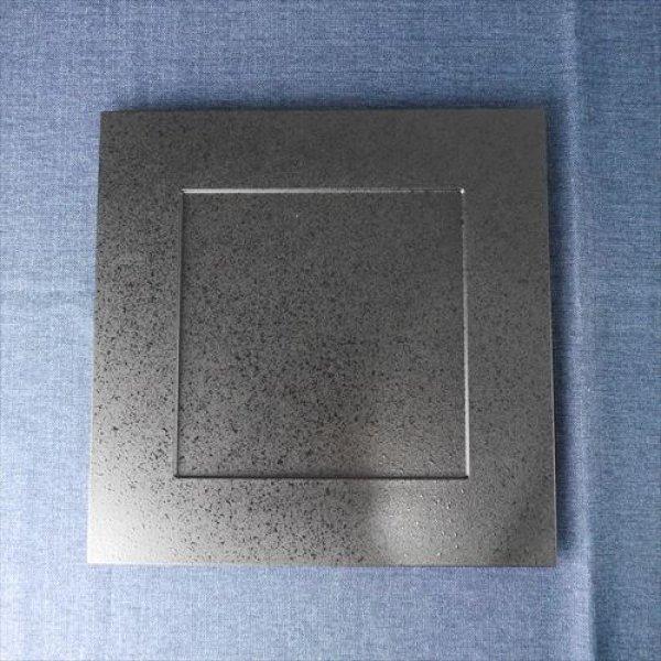 画像1: 漆器/福井クラフト/尺1前菜炉縁盆 黒タタキ/ブラック/33.3x33.3 X H1.2 (1)