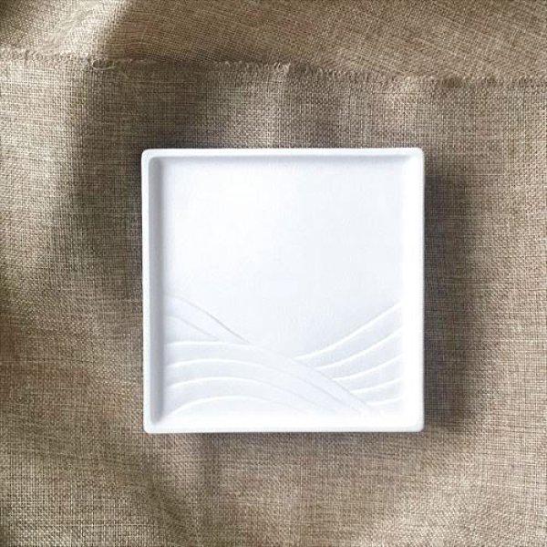 画像1: フラッグス/有田焼/貝山窯/sikumi/シャイン・ホワイト/銘々皿/14cm (1)